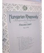 Vintage Sheet Music Hungarian Rhapsody No. 2 by Franz Liszt 1906 - $7.99