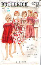 Vintage Nightgown & Pajamas Pattern 3743-b Girl Size 10 - Complete - $9.99