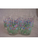 Modern Pink Blue Tulip Flowers Drinking Glasses... - $10.00
