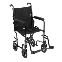 Drive Medical Lightweight Transport Wheelchair Silver 17'' - $126.99