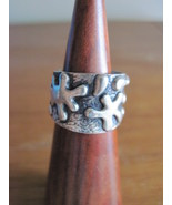 Mexican silver chunky paint splatter ring - $30.00
