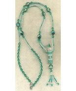 Light Blue Beaded Aroma Vial Necklace 2 - $32.37