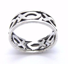 .925 STERLING SILVER FISHERS OF MENS RING - $29.99