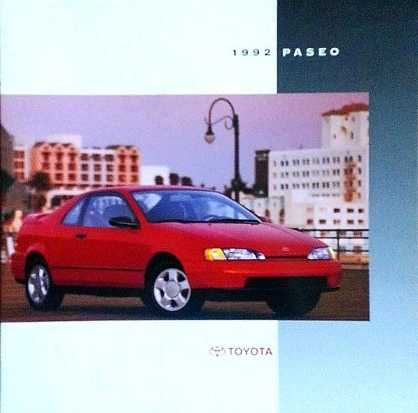 1992 Toyota PASEO sales brochure catalog US 92