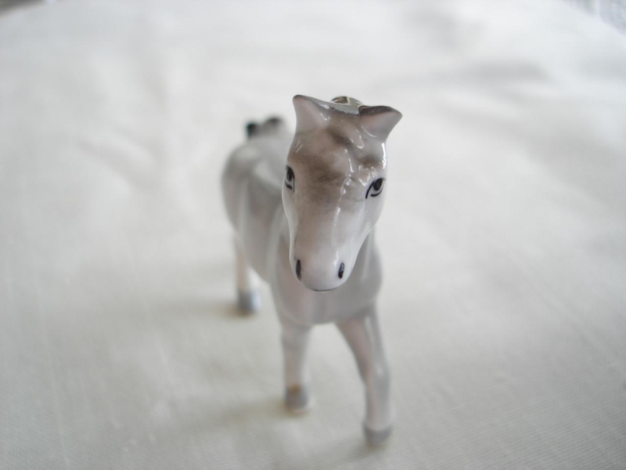 Enesco Miniature Porcelain Grey Mare Horse Figurine