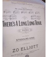 Vintage Sheet Music There's A Long, Long Trail by Stoddard King & Zo Ell... - $7.99