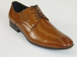 Kenneth Cole Dress Shoes Mix Er Leather Business Oxford lace up Cognac KMS6LE027 - $104.99