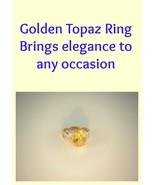 Golden Topaz Ring  - $15.00