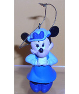 Disney Christmas Carol Minnie Mouse in blue ornament - $9.99