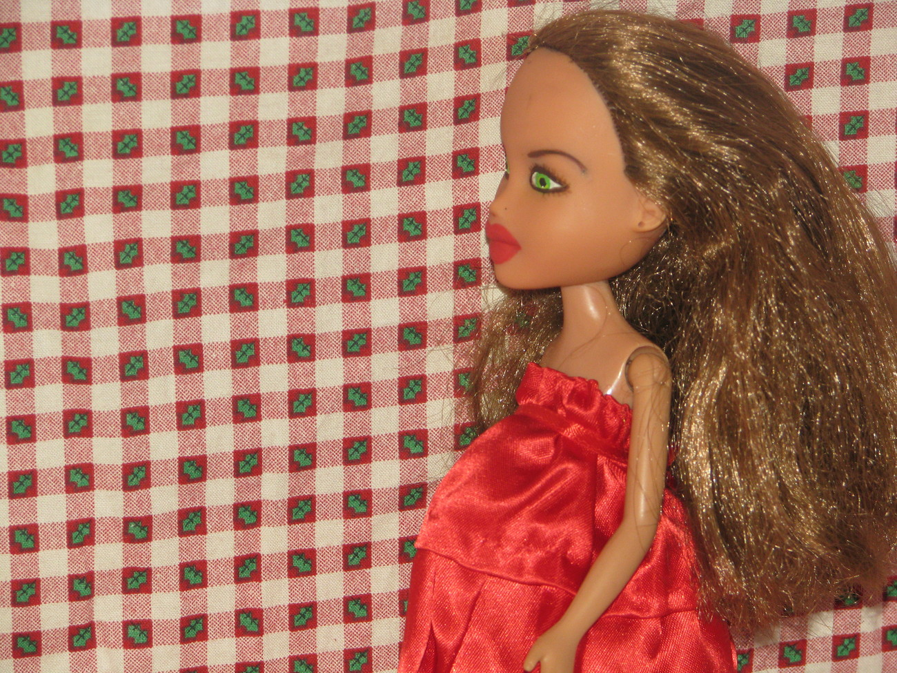Pregnant Fashion Doll Lia OOAK Christmas Bratz