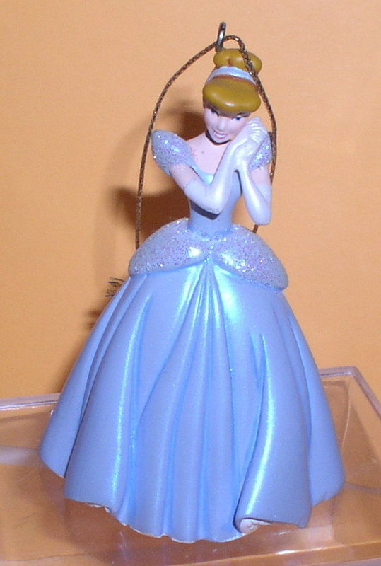 Disney Cinderella blue Sparkling gown ornament figure