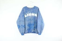 Vintage 90s Majestic Herren Groß Detroit Lions Bann Out Acid Wash Sweats... - $59.34
