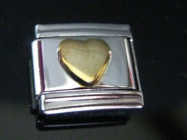 Heart GoldPlated generic Italian Charm - fits Nomination Classic size Bracelets - $6.57