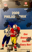 2009 Upper Deck Philadelphia Football Hobby Box 3 Hits AUTO Mem& Oversiz... - $129.95