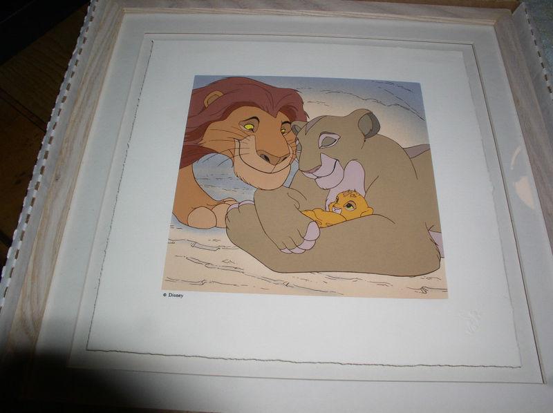 Disney Lion King  Simba & Mufasa Serigraph LE Art