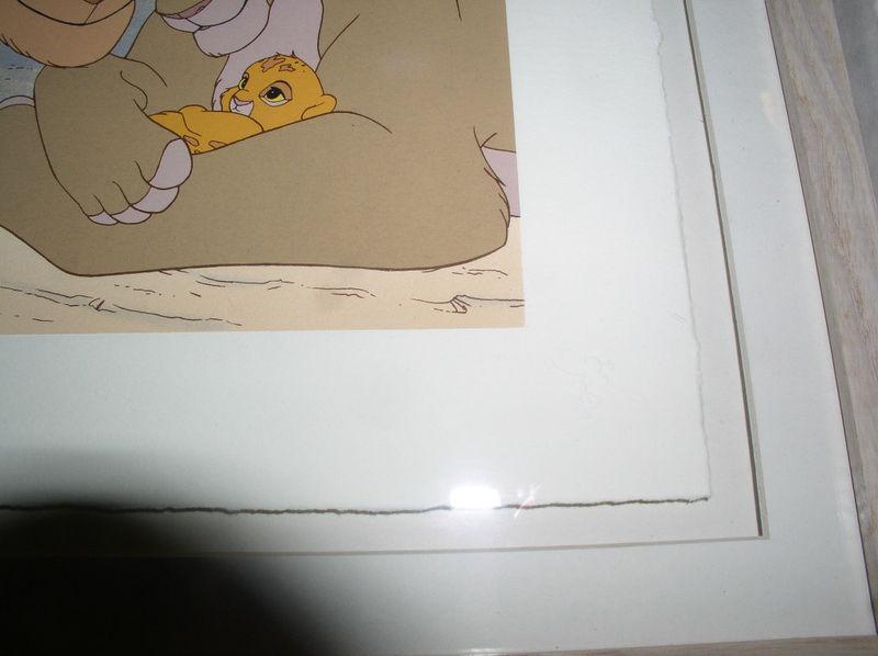 Disney Lion King  Simba & Mufasa Serigraph LE Art image 2