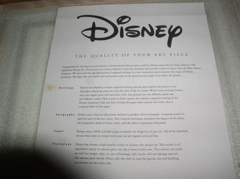 Disney Lion King  Simba & Mufasa Serigraph LE Art image 4