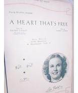 Vintage Sheet Music A Heart That's Free 1936 Deanna Durbin by Railey & R... - $7.99