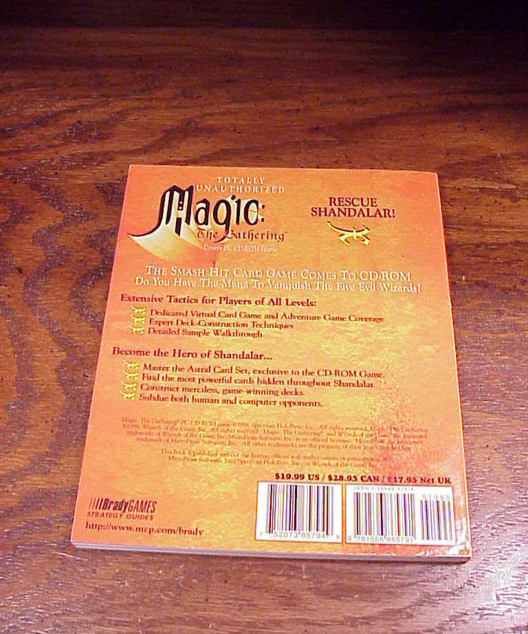 Magic The Gathering Totally Unauthorized Strategy Guide Book