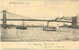 Brooklyn Bridge New York City 1903 Vintage Post Card - $6.00
