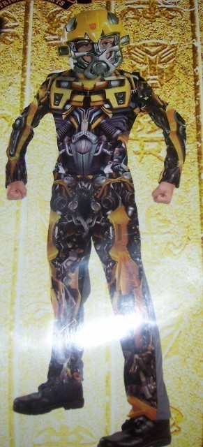 Transformers Bumblebee Boys Costume SZ LG 10-12 NEW