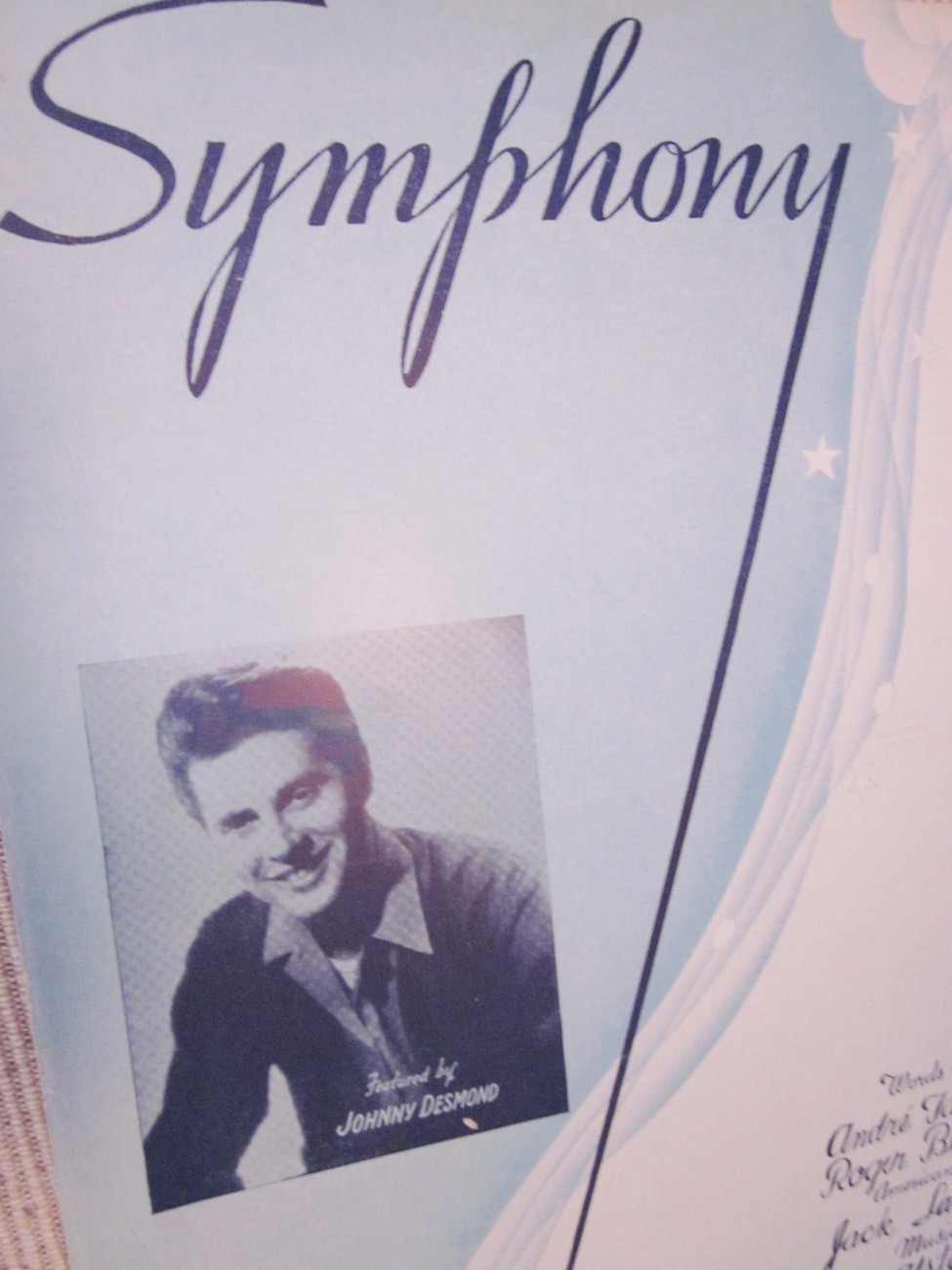 Vintage Sheet Music Symphony by Tabet, Bernstein, Lawrence 1945 Lot 2 1945