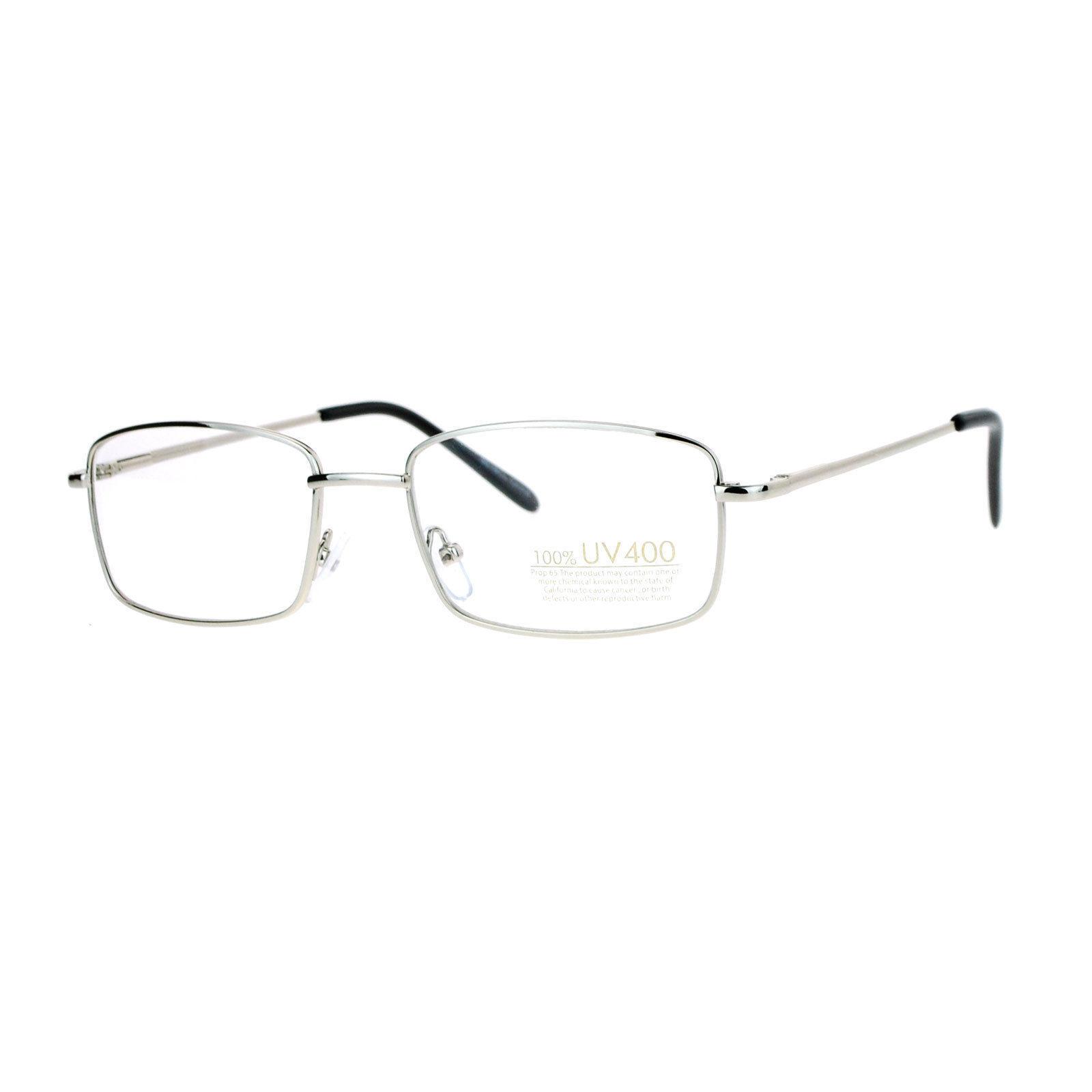 Small Frame Eyeglasses Thin Metal Rectangular Fashion Glasses Spring Hinge