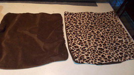 Pair of Brown Gold Cheetah Decorative Print Throw Pillows  18 x 18 - $49.95