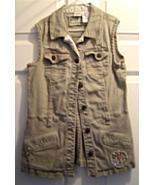 Girls Size L 12/14  Khaki Green Fashion Vest Hanna Montana - $14.99
