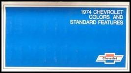 1974 Chevrolet ORIGINAL Paint Chip Color Feature Sales Brochure GM 74   - $10.25
