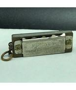 MINIATURE SILVER HARMONICA keychain key chain PIONEER instrument occupie... - $49.45