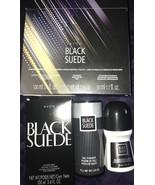 Avon Black Suede 3 Piece Gift Set Cologne, Powder, Deodorant Set - $29.99