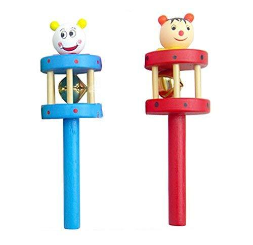 PANDA SUPERSTORE Set of 2 Lovely Cartoon Baby Toys Sound Toys Baby Rattles(Rando