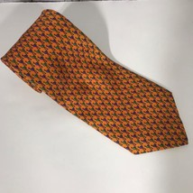 Robert Talbot Tie Orange Birds 100% Silk - $22.92