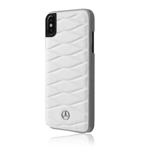 Mercedes-Benz Pattern III Genuine Leather Hard Cases for iPhone X Free Delivery
