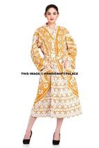 100% Cotton Indian Women's Spa Gown Bath Robe Pockets Ombre Mandala Long... - ₨1,453.31 INR
