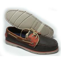Sperry Top-Sider Men Size 8.5 Boat Shoes LEEWARD DK Brown/Tan/Orange NIB - $94.09
