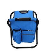 Folding Camping Fishing Chair Stool Backpack w/Cooler Insulated Picnic B... - $67.32