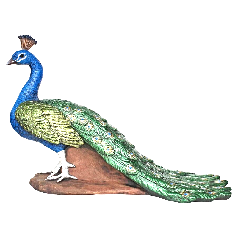 The Regal Peacock Garden Statue - Medium