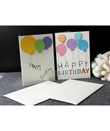 Customized Gift   Handmade Happy Birthday Cards   2 cards 100% Unique 3D... - $8.79