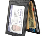 Slim Wallet with Money Clip RFID Blocking Minimalist Bifold Wallet for Men Carbo - £22.46 GBP