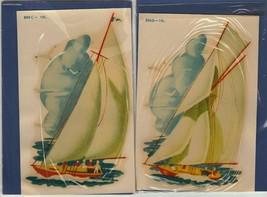 2 Vintage Sail Boat waterslide water slide Decals Nautical tole painting... - $23.16