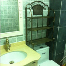 Toilet Organizer Magazine Rack Roll Holder Shelves - $137.75