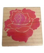 Stampendous Rubber Stamp Bold Rose Flower Summer Garden Card Making Craft Love - $7.99