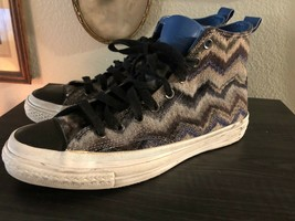 AUTH MISSONI X CONVERSE ZIG ZAG WEAVE HIGH TOP SNEAKER 10.5 - $65.45