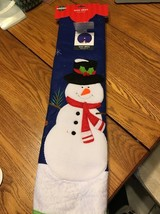 48 Inch Christmas Tree Skirt Snowman Blue Ships N 24h - $47.02