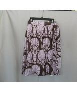 H&M skirt wrap Sz 4 purple brown design  tie belt lined - $14.65