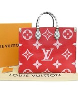Louis Vuitton ONTHEGO Tote Giant Red Monogram bag 2019 ON THE GO M44569 Y3 - $4,643.10