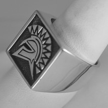 Trojan Soldier Warrior SPARTAN gladiator Head Sterling Silver .925 ring ... - $59.99