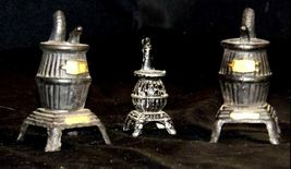 Salt and Pepper and ToothPick Holders AA18 -1090 Set of 3 Vintage Collectible  image 3